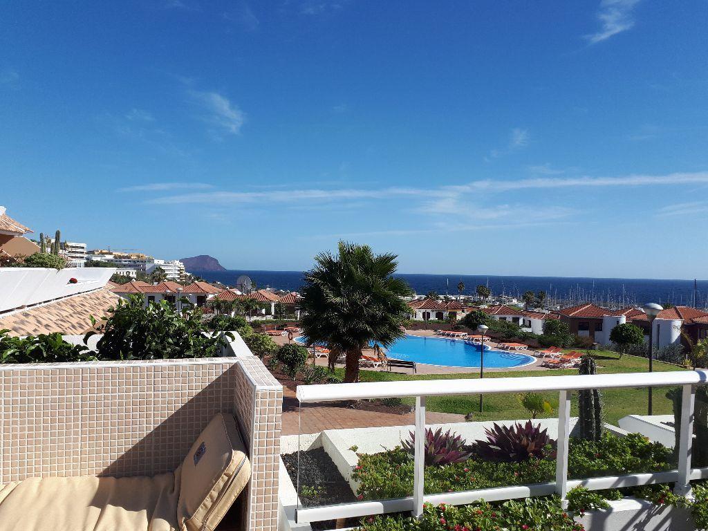 Tenerife appartement, zeezicht, zwembad, Amarilla Golf