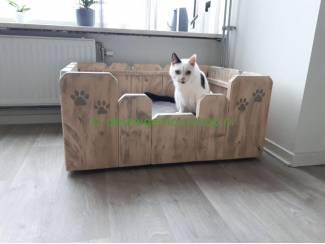 Steigerhout hondenmand model Chet