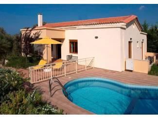 Kreta-Rethymno, te huur, villa zeezicht, 3 slpk, privaat zwembad