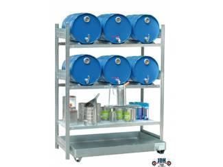 Vloeistof opvang en afgifte rek 6 x 60L AFP 1350/4