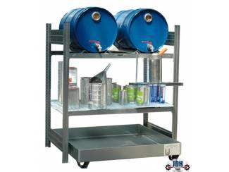 Vloeistof opvang en afgifte rek 2 x 60L AFP 1050/1