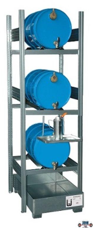 Vloeistof opvang en afgifte rek 3 x 60L AFP 650/2