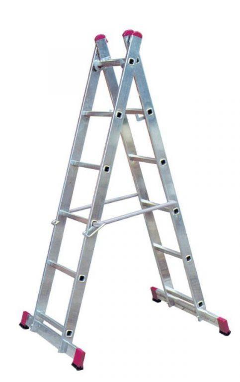 Laddersteiger 2x6 treden 3,75meter *NIEUW*