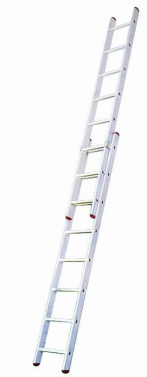 Uitschuifbare ladder 2x8 treden 4,85meter *NIEUW*