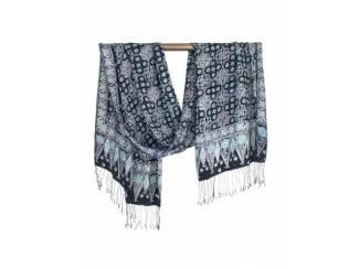 Mutsen, Sjaals en Handschoenen Zijden batik sjaal uit Bali