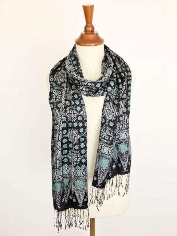 Zijden batik sjaal uit Bali