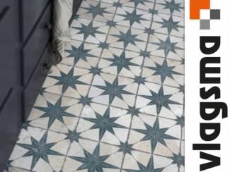 Tegels Vintage vloertegels en plavuizen peronda star 45x45 4 kleuren