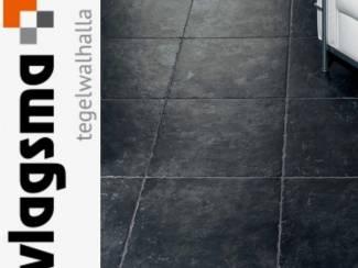 Plavuizen Naxos Palatino 50x50 Zwarte Vloertegels Rustiek