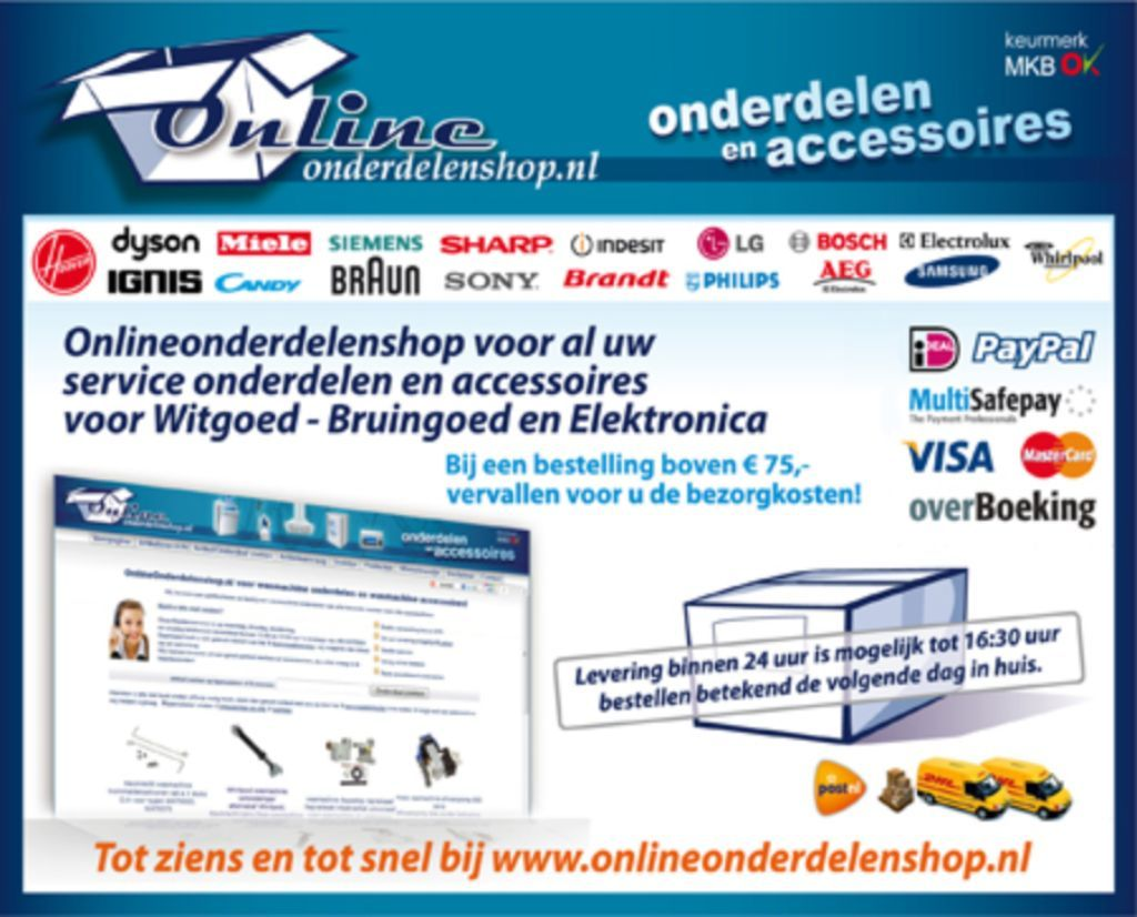 Onderdelen & accessoires van Witgoed, Bruingoed, Elektronica