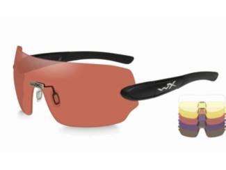 WileyX schietbril - DETECTION met 5 glazen / mat zwart