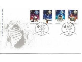 postzegels 50 jaar maanlanding, uit 2019