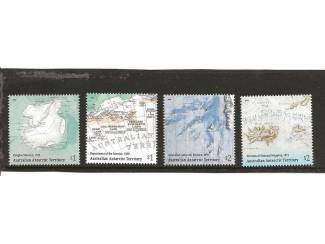 postzegels 2019 van landkaarten uit Australin Antarctic Territory