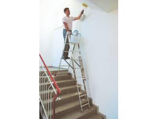 Ladders en Trappen Vouwladder 3x6 treden MET trapfunctie 4,55m *NIEUW*