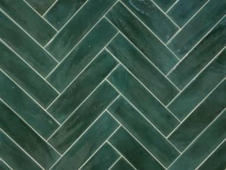 De Populairste tegels: Handvorm tegels groen opal emerald