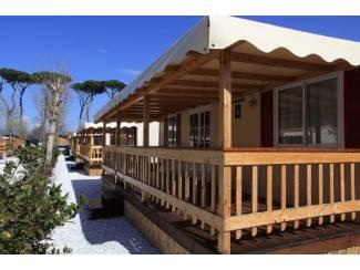 Stacaravan| Chalet te huur bij zee| Camping |  Viareggio| Toscane