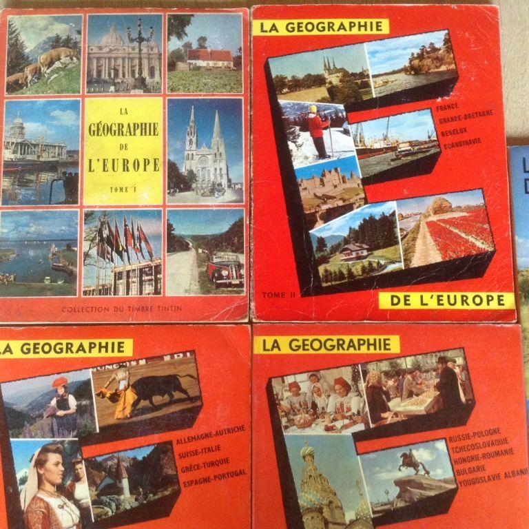4 BOEKEN;LA GEOGRAPHIE de L'EUROPE .4 LIVRES ancien
