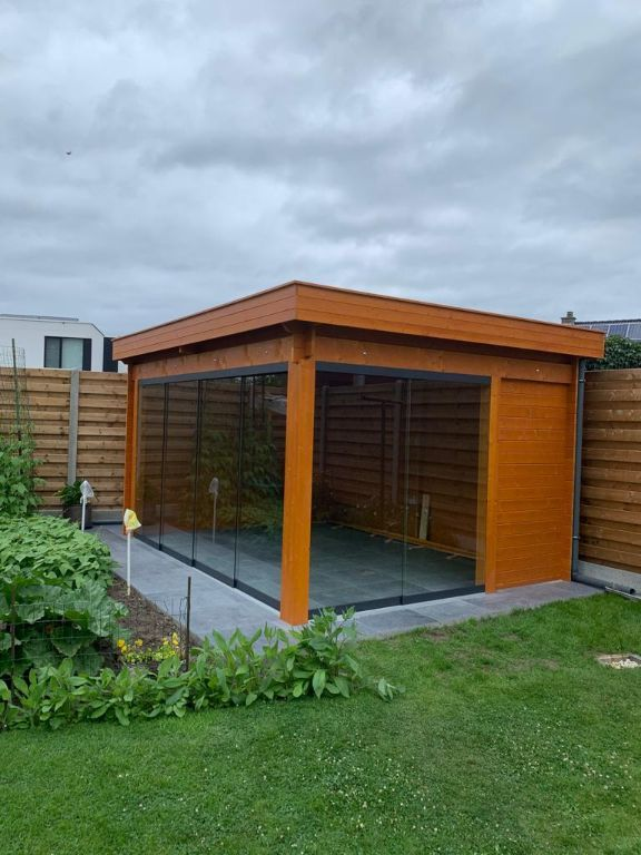 Tuinhuis-Blokhut G4434 ZG zonder glas: 448 x 340 m
