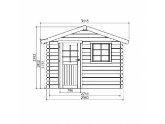 Tuinhuisjes, Blokhutten en Kassen Tuinhuis-Blokhut Sologne : 2980 x 2980-390mm