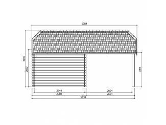 Tuinhuisjes, Blokhutten en Kassen ---PROMOTIE---Tuinhuis-Blokhut Cork: 3980 x 2980 + 2654mm
