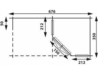 Tuinhuisjes, Blokhutten en Kassen Tuinhuis-Blokhut 3555 Z Plus: 676 x 350 x 276 (h) cm