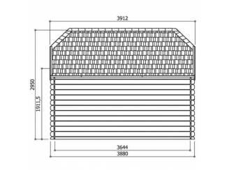 Tuinhuisjes, Blokhutten en Kassen Tuinhuis-Blokhut Limerick: 2980 x 3880mm