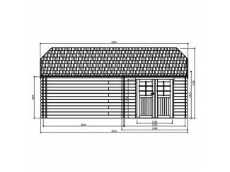 Tuinhuisjes, Blokhutten en Kassen Tuinhuis-Blokhut York: 2980 x 2980 + 3644mm