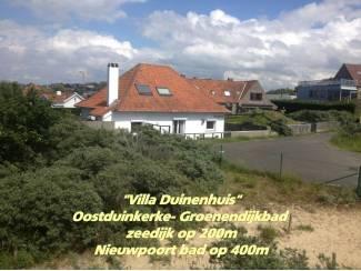 Vakantiehuizen   Belgie en Luxemburg Oostduinkerke - Nieuwpoort mooie villa aan de duinen dijk 200m