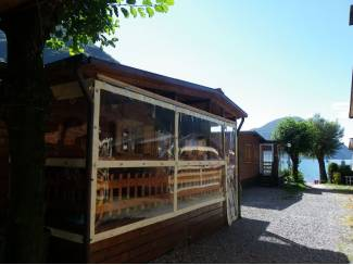 italie: chalet luganomeer porlezza camping international