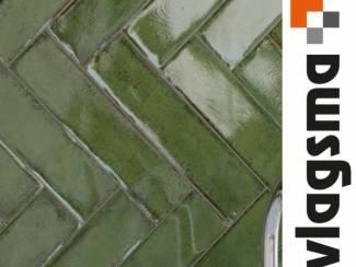Tegels Online kopen handvorm tegels alchimia olive 7,5x30 cm