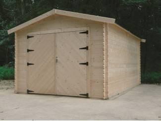 Tuinhuis-Blokhut garage traditioneel houten poort (S8331): 3580 x