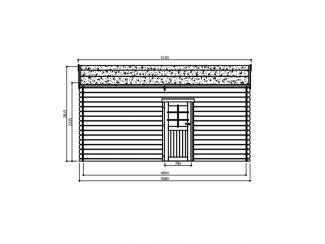 Tuinhuisjes, Blokhutten en Kassen Tuinhuis-Blokhut garage traditioneel sectionaal poort (S8330): 35