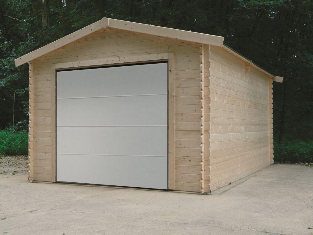 Tuinhuis-Blokhut garage traditioneel sectionaal poort (S8330): 35