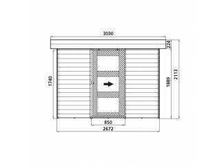 Tuinhuisjes, Blokhutten en Kassen Tuinhuis-Blokhut Lund : 2672 x 1874mm - LEVERBAAR IN 2022