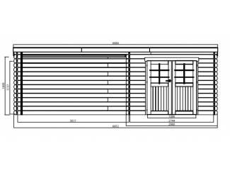 Tuinhuisjes, Blokhutten en Kassen Tuinhuis-Blokhut Rohan geïmpregneerd: 2980 x 2980 + 3611mm