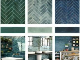 Populairste handvorm tegels groen, blauw of turquoise kopen