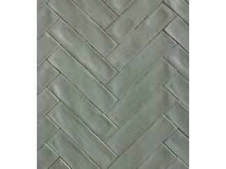 Tegels Handvorm tegels 7,5x30 Cifre colonial jade groen glans/mat
