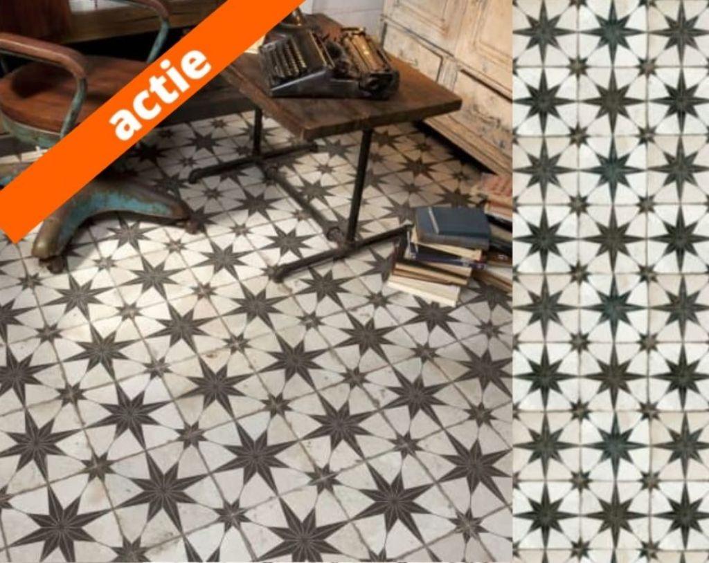 Portugese tegels stervorm patroontegels NU in de actie