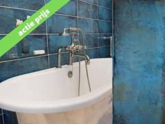 Actie tegels intens blauwe wandtegels 20x50 cm badkamertegel