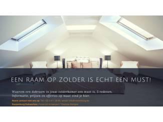 Aannemers (Plat)dakraam, lichtkoepel, lichtstraat all inclusive gemonteerd