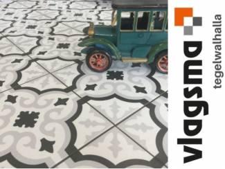 Portugese tegels in huis 20x20 cm vloertegels plavuizen